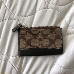 Coach Classic Card Holder in brown